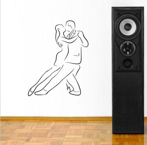 adesivo de parede dança de salão homem mulher casal 100x80cm