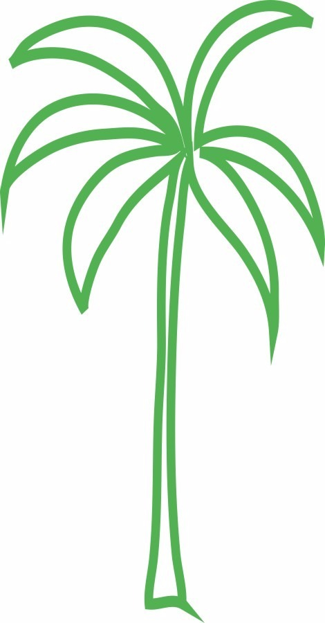 Adesivo De Parede Decoracao Arvore Palmeira Diversas Cores R 38