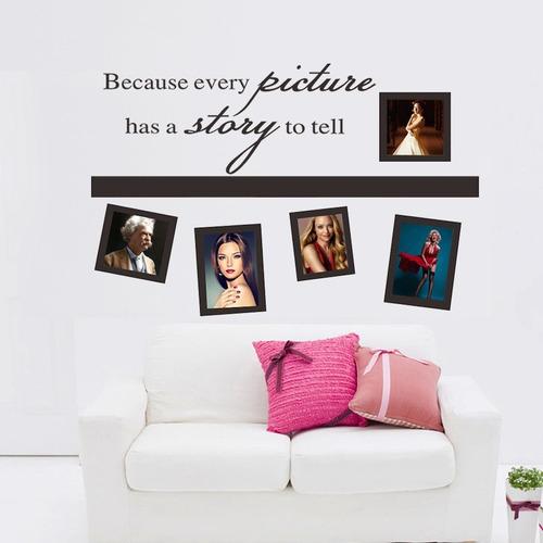 adesivo de parede decoração retratos fotos molduras adesivas