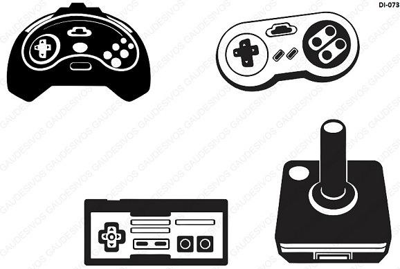 Armário Bartira Nas Casas Bahia ~ Adesivo De Parede Decorativo 4 Controle De Video Game Sala R$ 35,83 em Mercado Livre