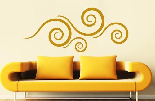 adesivo de parede decorativo abstrato quarto sala 140x60 cm