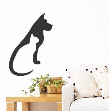 adesivo de parede decorativo animais gato cachorro natureza