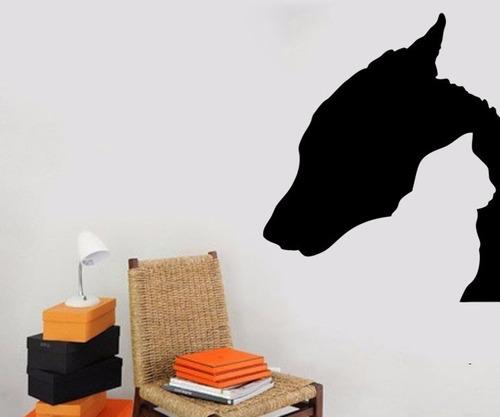 adesivo de parede decorativo animais gato cão cachorro 60x50