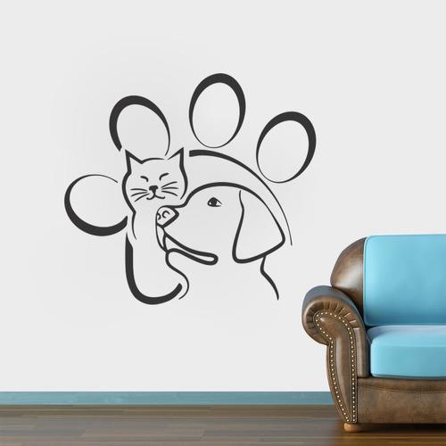 adesivo de parede decorativo animais veterinário 100x80cm