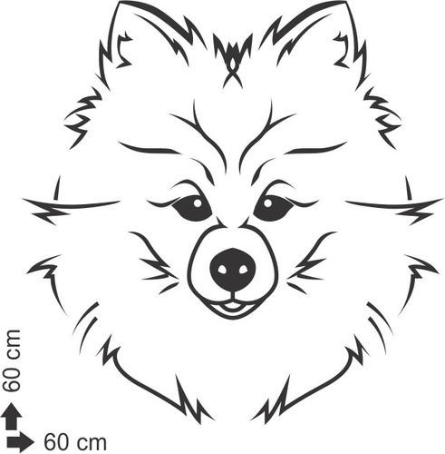 adesivo de parede decorativo animal cachorro cão 60x60 cm