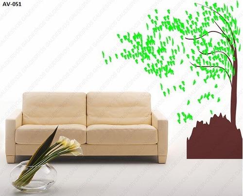 adesivo de parede decorativo arvore grande 2.00 mt - 2 cores