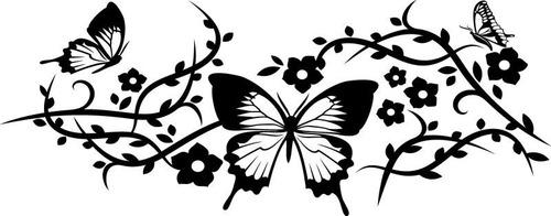 adesivo de parede decorativo borboleta com galhos