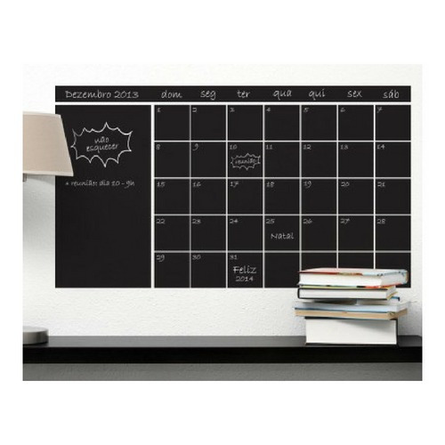 adesivo de parede decorativo calendario agenda lousa giz l70