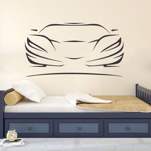 adesivo de parede decorativo carro corrida quarto menino