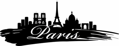 adesivo de parede decorativo cidade paris com torre eiffel