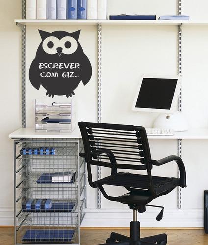 adesivo de parede decorativo de lousa coruja - geladeira