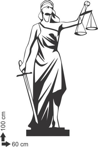 adesivo de parede decorativo deusa justiça direito balança