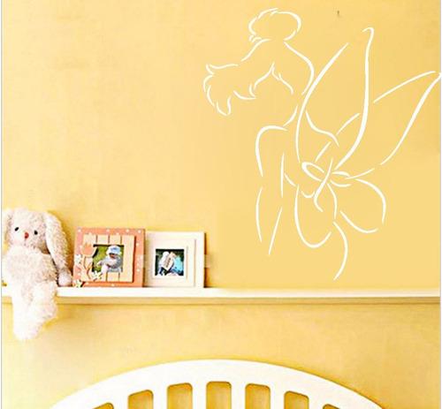 adesivo de parede decorativo disney tinker bell fada 80x70cm