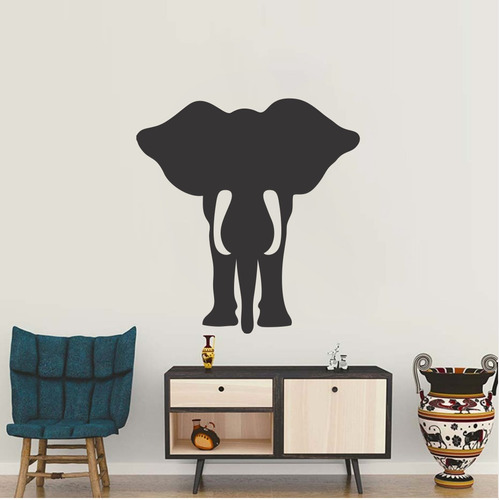 adesivo de parede decorativo elefante animal natureza 100x95