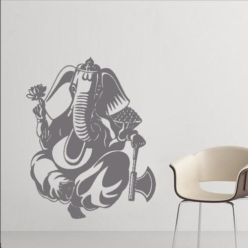 adesivo de parede decorativo elefante ganesha deus 100x80cm
