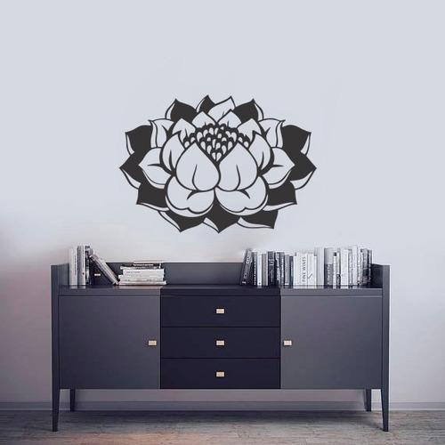 adesivo de parede decorativo flor de lótus vida 80x56 cm