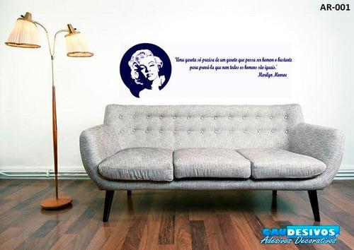 adesivo de parede decorativo frase merylin monroe mensagem