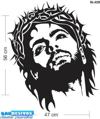 adesivo de parede decorativo imagens de cristo grande decore