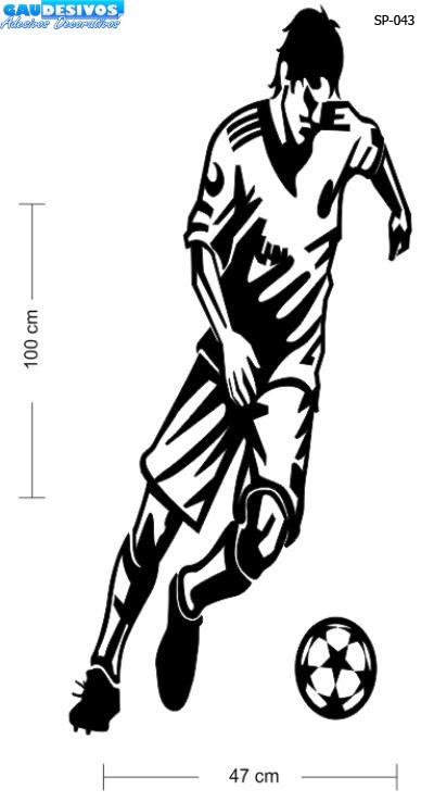 Artesanato Junino ~ Adesivo De Parede Decorativo Jogador De Futebol Com A Bola R$ 45,35 em Mercado Livre