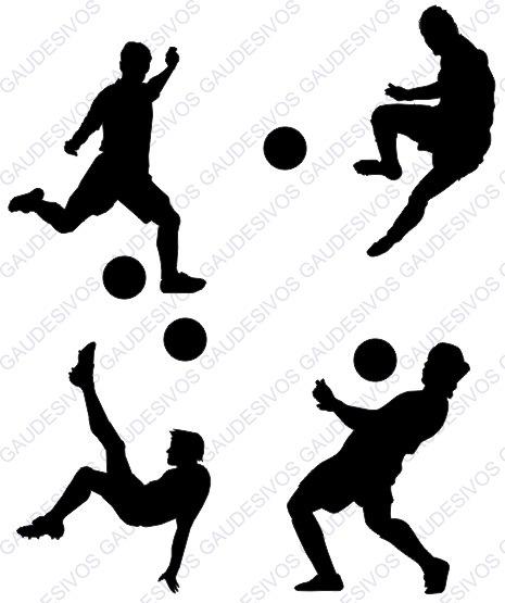 Adesivo De Parede Decorativo Kit 48 Jogadores Futebol Bolas - R  44 ... e85e0c715457d