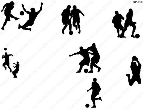 adesivo de parede decorativo kit jogadores de futebol grande