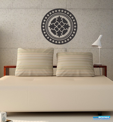 adesivo de parede decorativo mandala estrelado