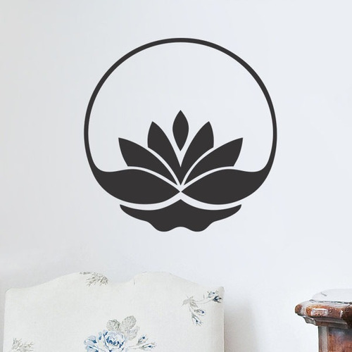 adesivo de parede decorativo mandala flor de lótus 70x70 cm