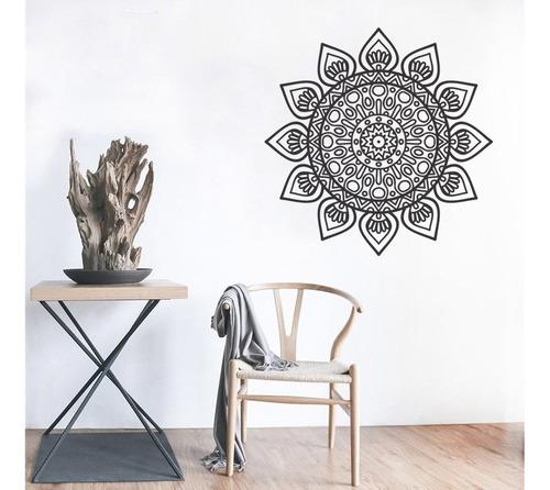 adesivo de parede decorativo mandala floral 70x70 cm