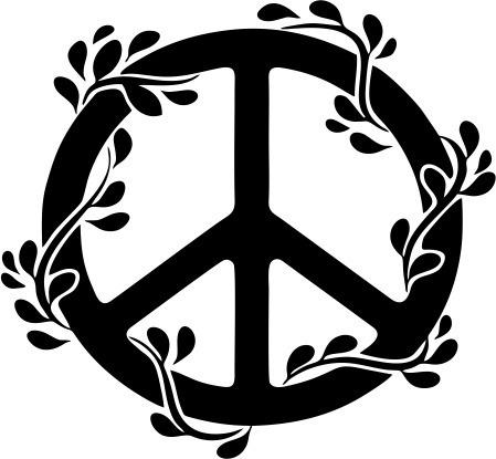 adesivo de parede decorativo mandala paz peace flor natureza