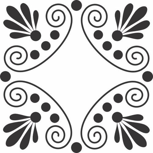 adesivo de parede decorativo mandala quadrado folhas