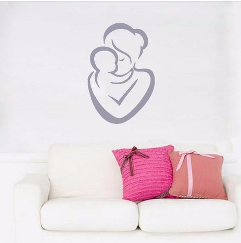 adesivo de parede decorativo mãe família bebê criança filho