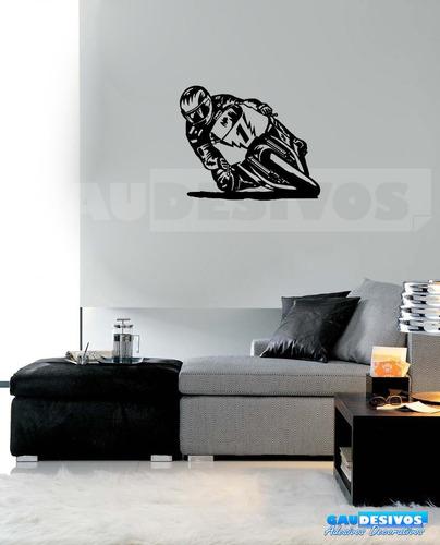 adesivo de parede decorativo moto corrida