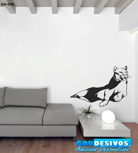adesivo de parede decorativo onça deitada / felino