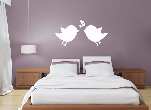 adesivo de parede decorativo passaro passarinho asas amor