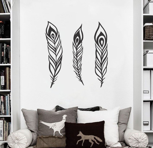 adesivo de parede decorativo pena penas pássaro desenho asa