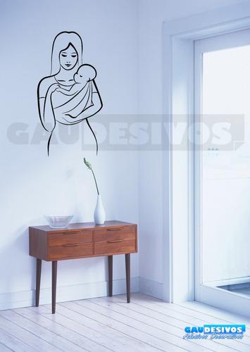 adesivo de parede decorativo silhueta mãe