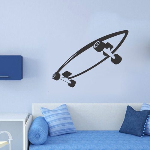adesivo de parede decorativo skate menino quarto rodas board