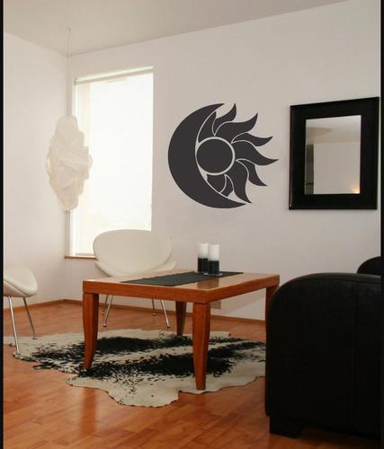 adesivo de parede decorativo sol lua céu sala quarto 80x80cm