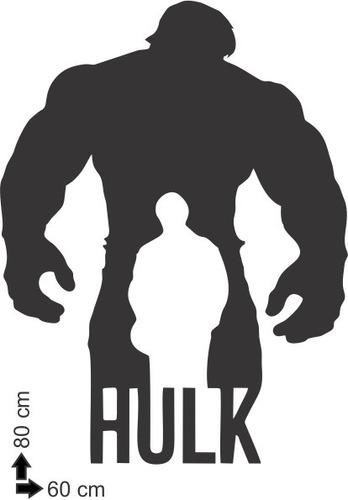 adesivo de parede decorativo super herói hulk bruce 80x60 cm
