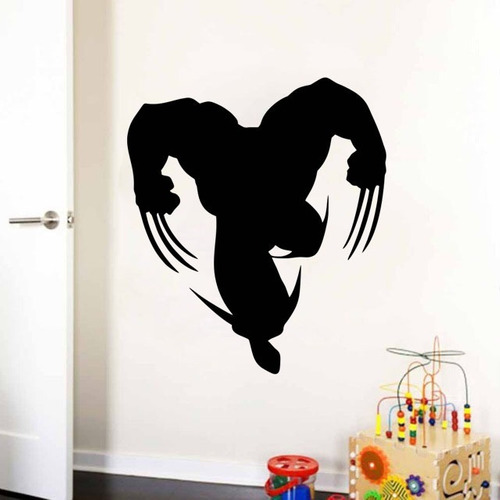adesivo de parede decorativo super herói wolverine 80x70 cm