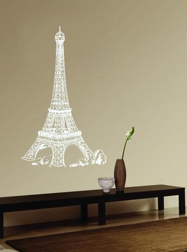 adesivo de parede decorativo torre eiffel cidade paris