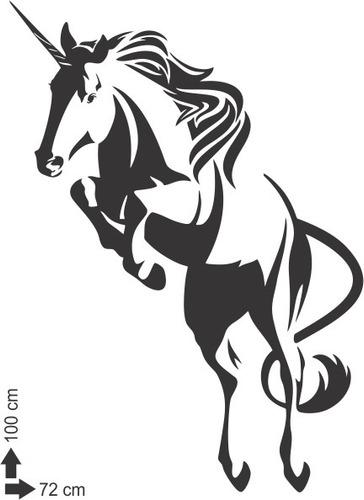 adesivo de parede decorativo unicórnio quarto cavalo chifre