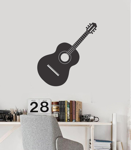 adesivo de parede decorativo violão música cordas 80x75 cm