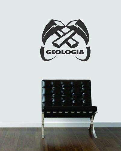 adesivo de parede decorativos profissão geologia curso-carro