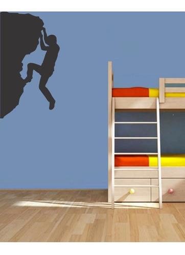 adesivo de parede escalada montanha menino esporte 90x50cm