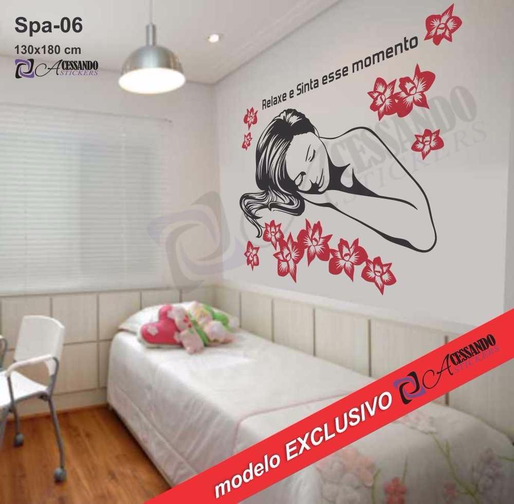 Adesivo De Parede Esteticista Spa Relaxamento Massagem R
