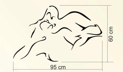 adesivo de parede exclusivo beijo quarto casal 95x60cm