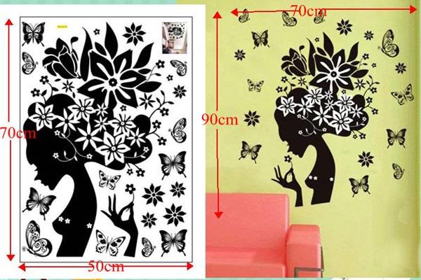 Aparador Verde Envejecido ~ Adesivo De Parede Fada Menina Floral E Borboletas R$ 44,90 em Mercado Livre