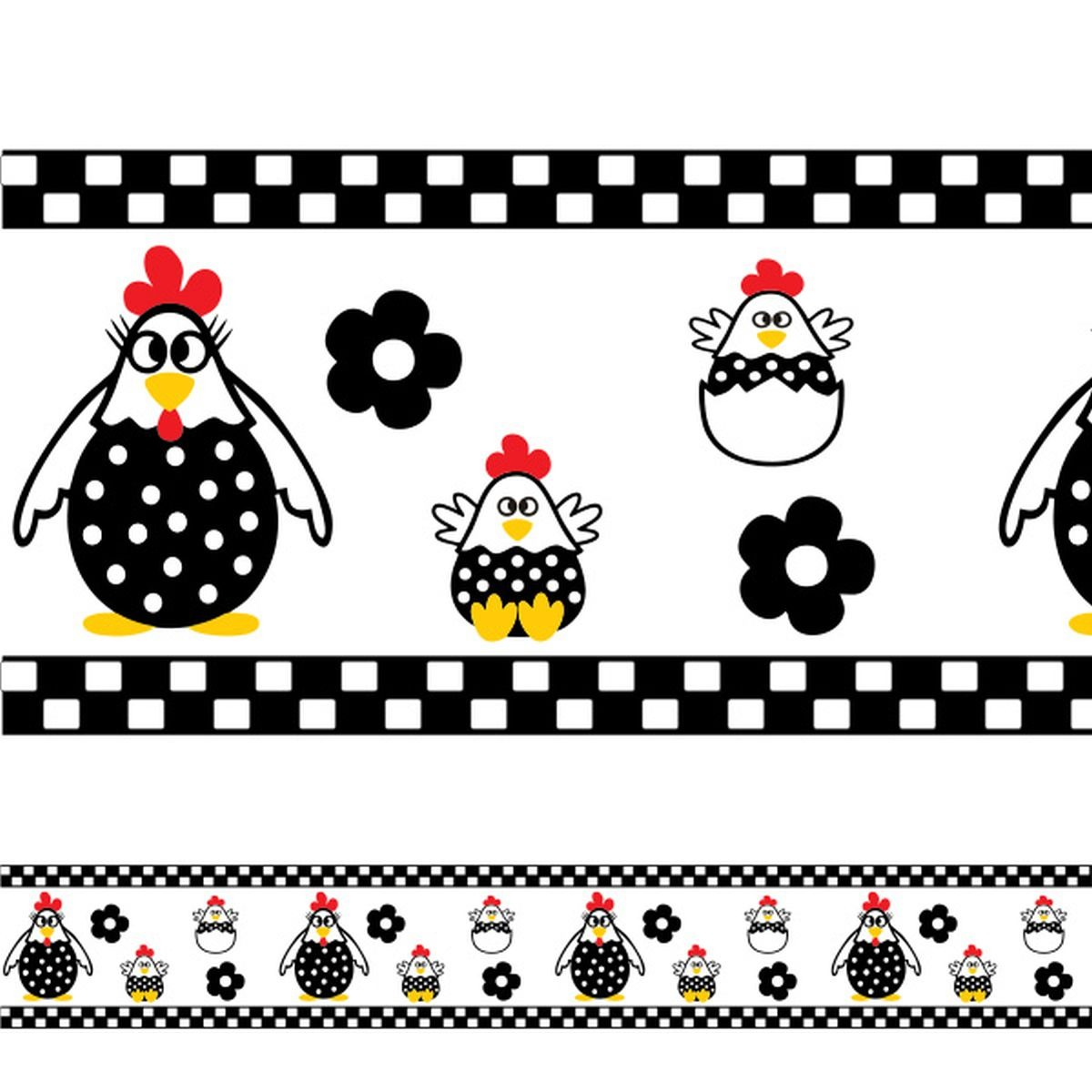 8a071b437 adesivo de parede faixa para cozinha galinha com filhotes. Carregando zoom.