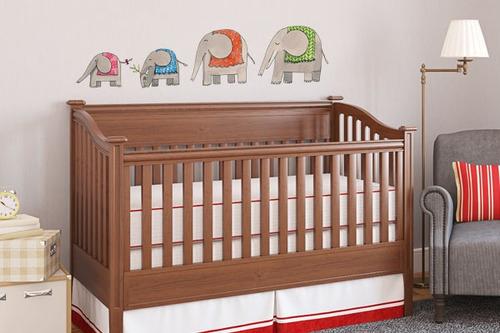 adesivo de parede família elefantes - mudo minha casa